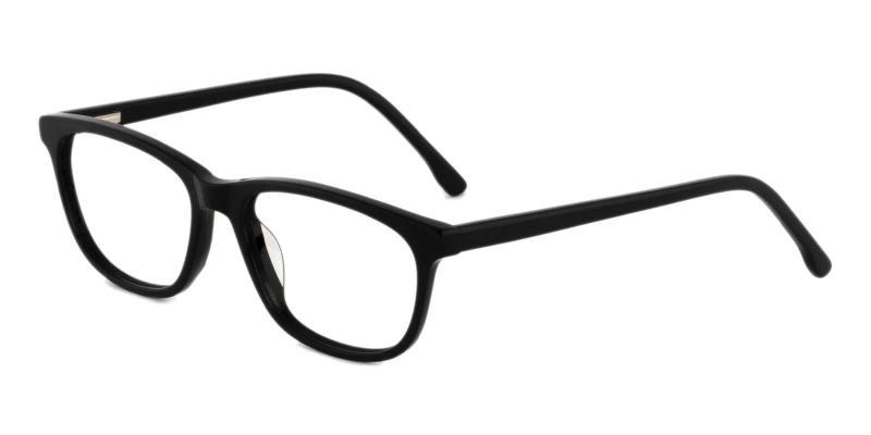 Black Machovec - Acetate Eyeglasses , SpringHinges , UniversalBridgeFit