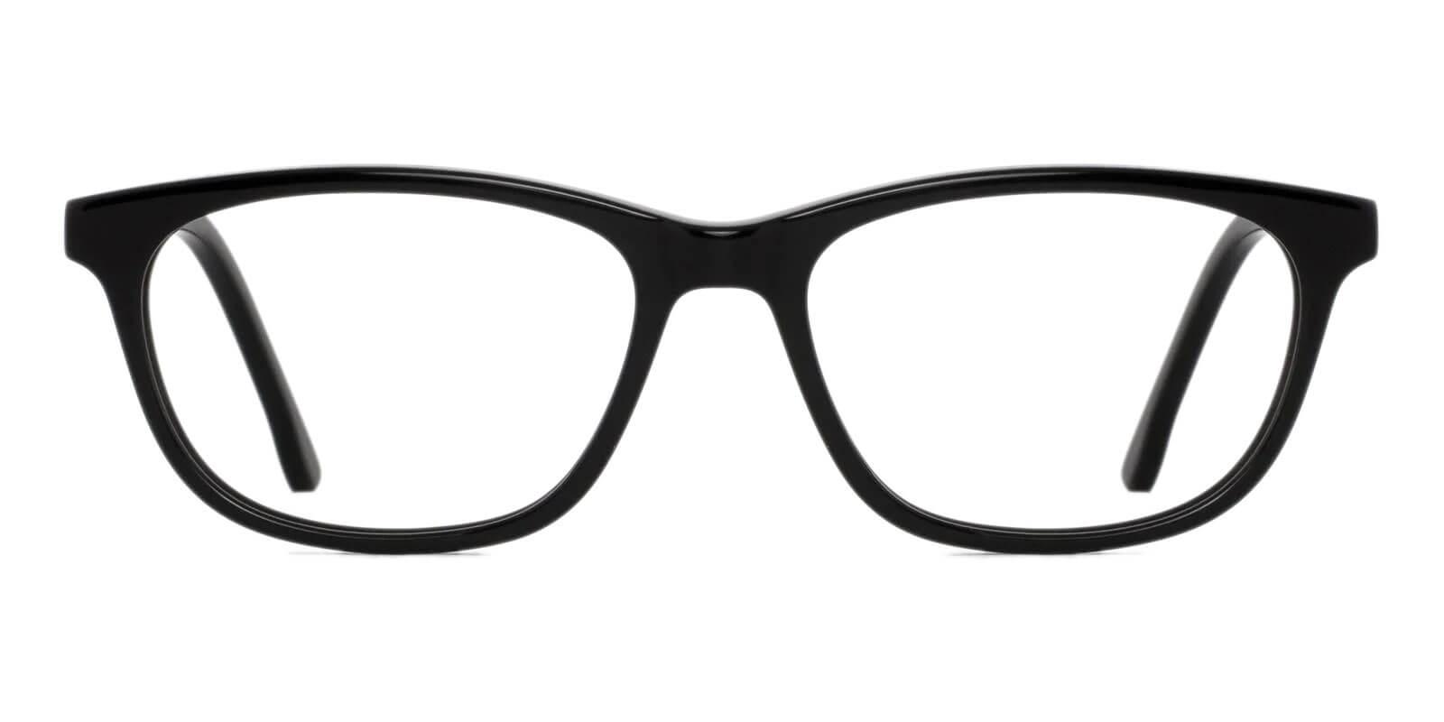 Machovec Black Acetate Eyeglasses , SpringHinges , UniversalBridgeFit Frames from ABBE Glasses