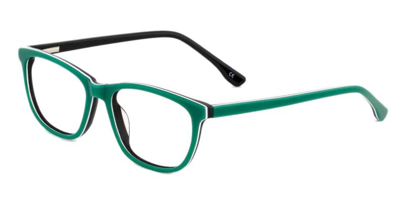 Green Machovec - Acetate ,Universal Bridge Fit