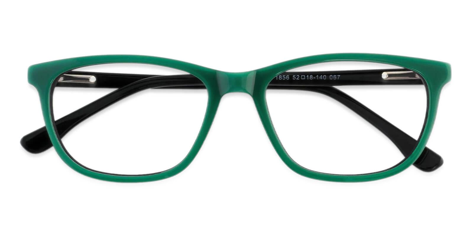 Machovec Green Acetate Eyeglasses , SpringHinges , UniversalBridgeFit Frames from ABBE Glasses