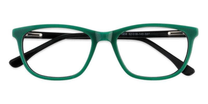 Green Machovec - Acetate Eyeglasses , SpringHinges , UniversalBridgeFit