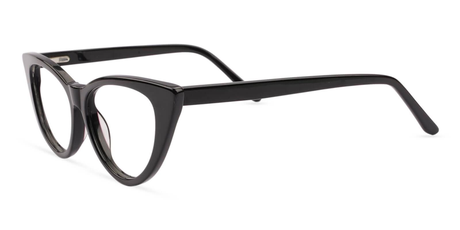 Nora Black Acetate Eyeglasses , SpringHinges , UniversalBridgeFit Frames from ABBE Glasses