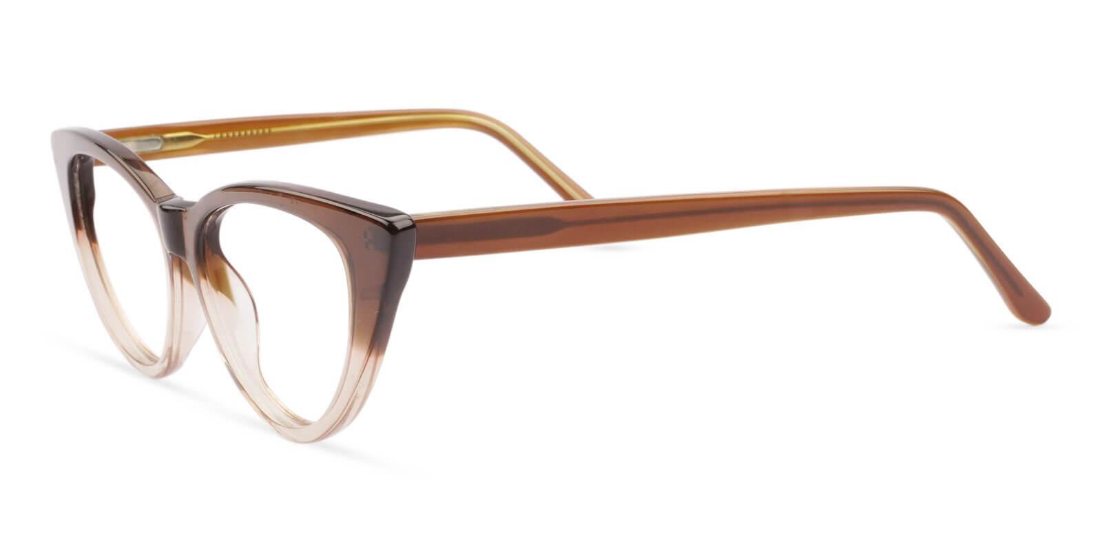 Nora Brown Acetate Eyeglasses , SpringHinges , UniversalBridgeFit Frames from ABBE Glasses