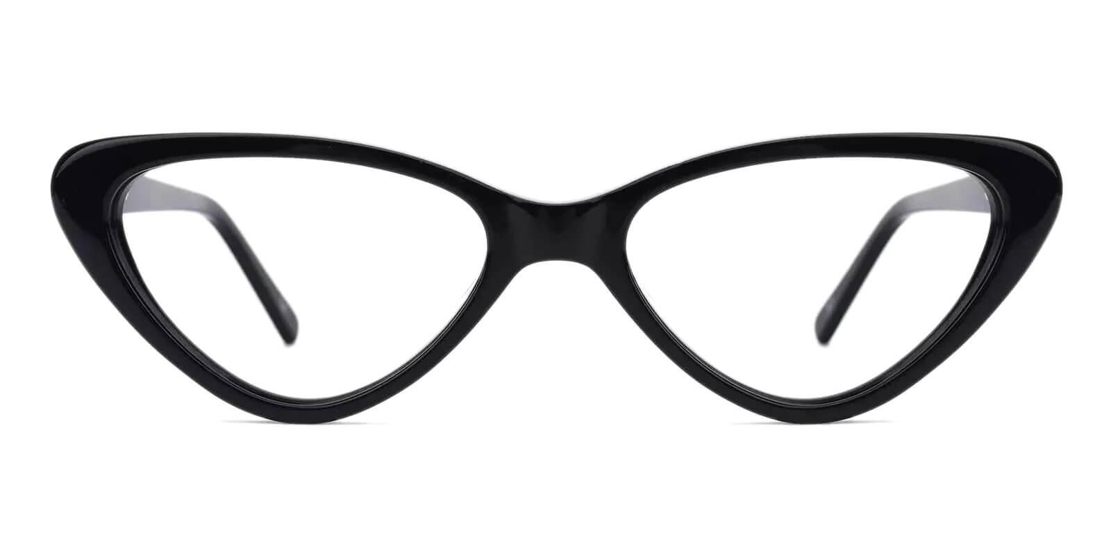 Hannah Black Acetate Eyeglasses , SpringHinges , UniversalBridgeFit Frames from ABBE Glasses