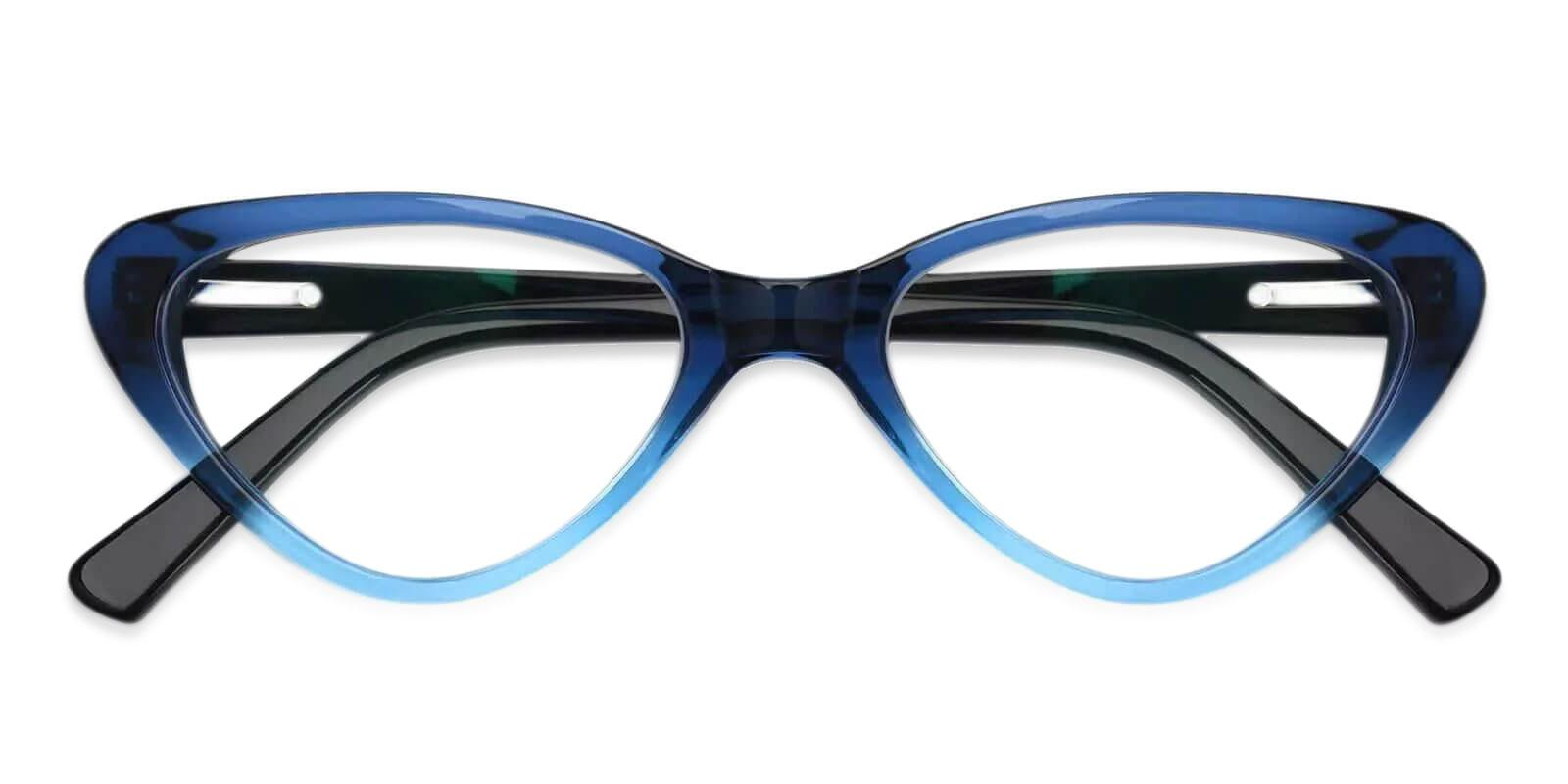 Hannah Blue Acetate Eyeglasses , SpringHinges , UniversalBridgeFit Frames from ABBE Glasses