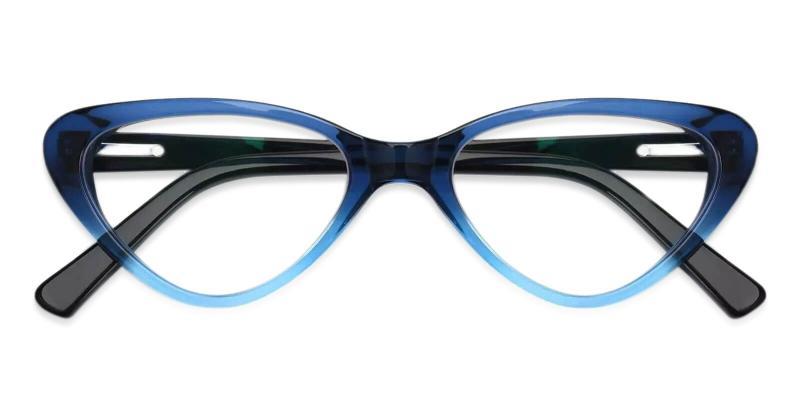 Blue Hannah - Acetate Eyeglasses , SpringHinges , UniversalBridgeFit