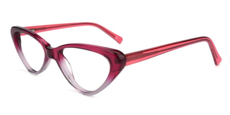 Purple Hannah - Acetate Eyeglasses , SpringHinges , UniversalBridgeFit
