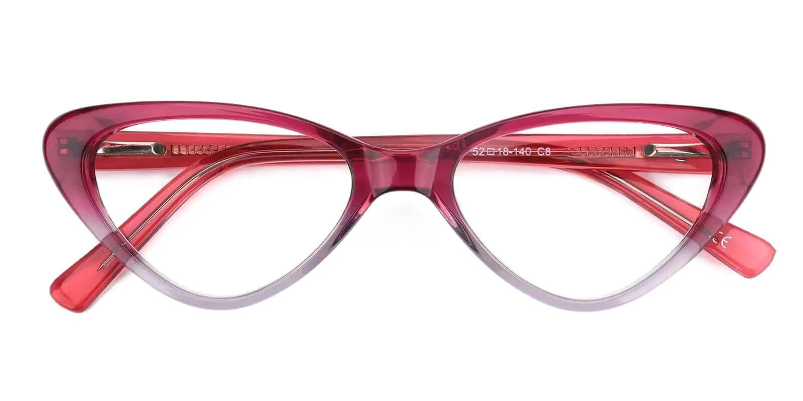 Hannah Purple Acetate Eyeglasses , SpringHinges , UniversalBridgeFit Frames from ABBE Glasses