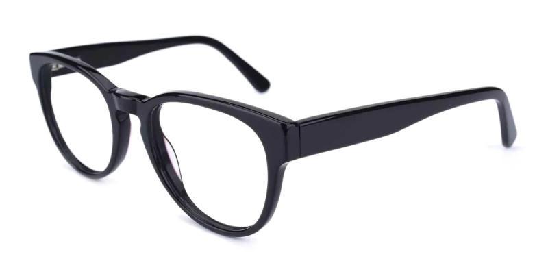 Black Aurora - Acetate Eyeglasses , Fashion , SpringHinges , UniversalBridgeFit