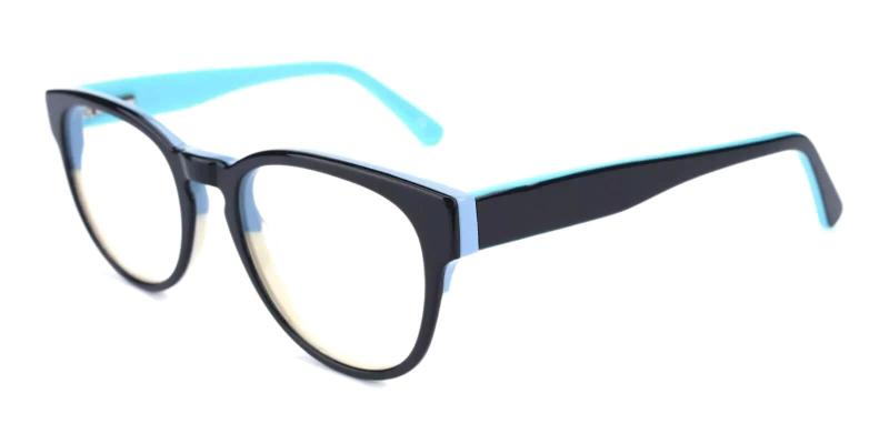 Blue Aurora - Acetate ,Universal Bridge Fit
