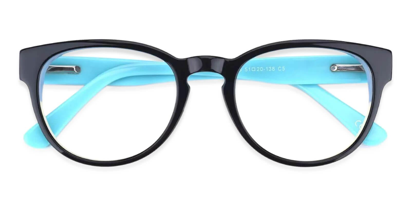Aurora Blue Acetate Eyeglasses , Fashion , SpringHinges , UniversalBridgeFit Frames from ABBE Glasses