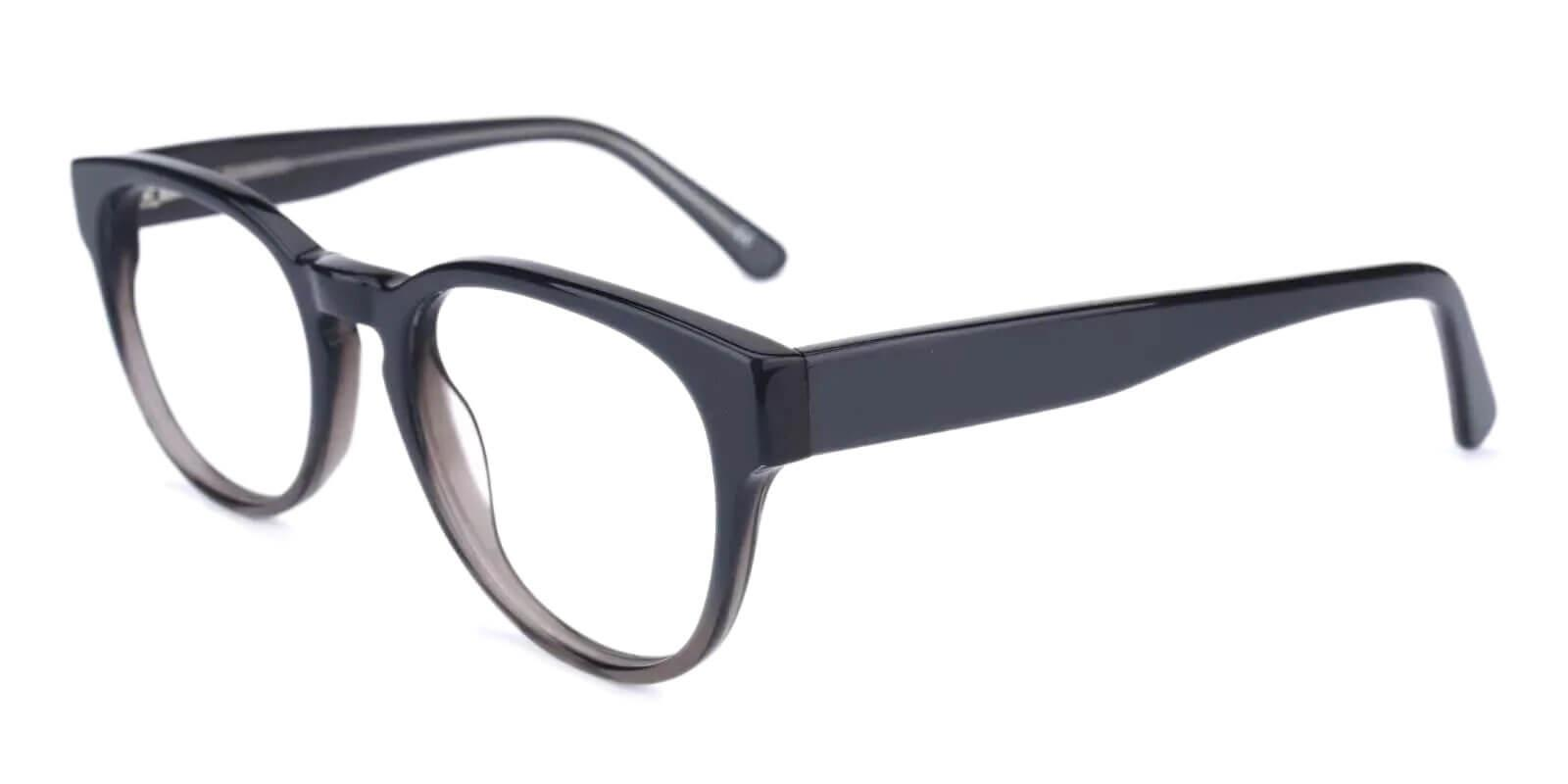 Aurora Gray Acetate Eyeglasses , Fashion , SpringHinges , UniversalBridgeFit Frames from ABBE Glasses
