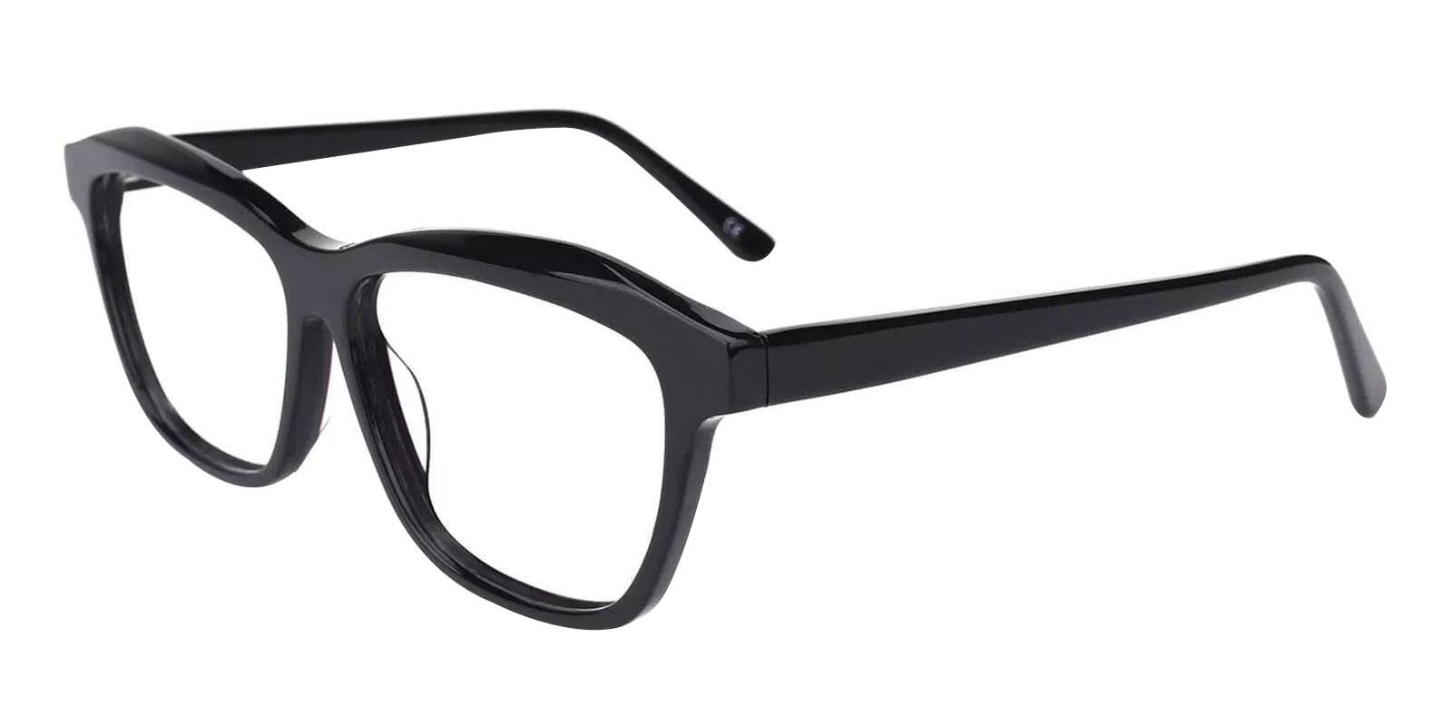 Sonia Black Acetate Eyeglasses , SpringHinges , UniversalBridgeFit Frames from ABBE Glasses