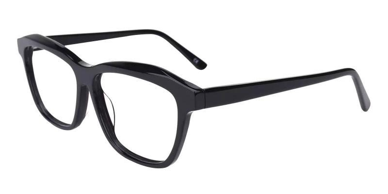 Black Sonia - Acetate Eyeglasses , SpringHinges , UniversalBridgeFit
