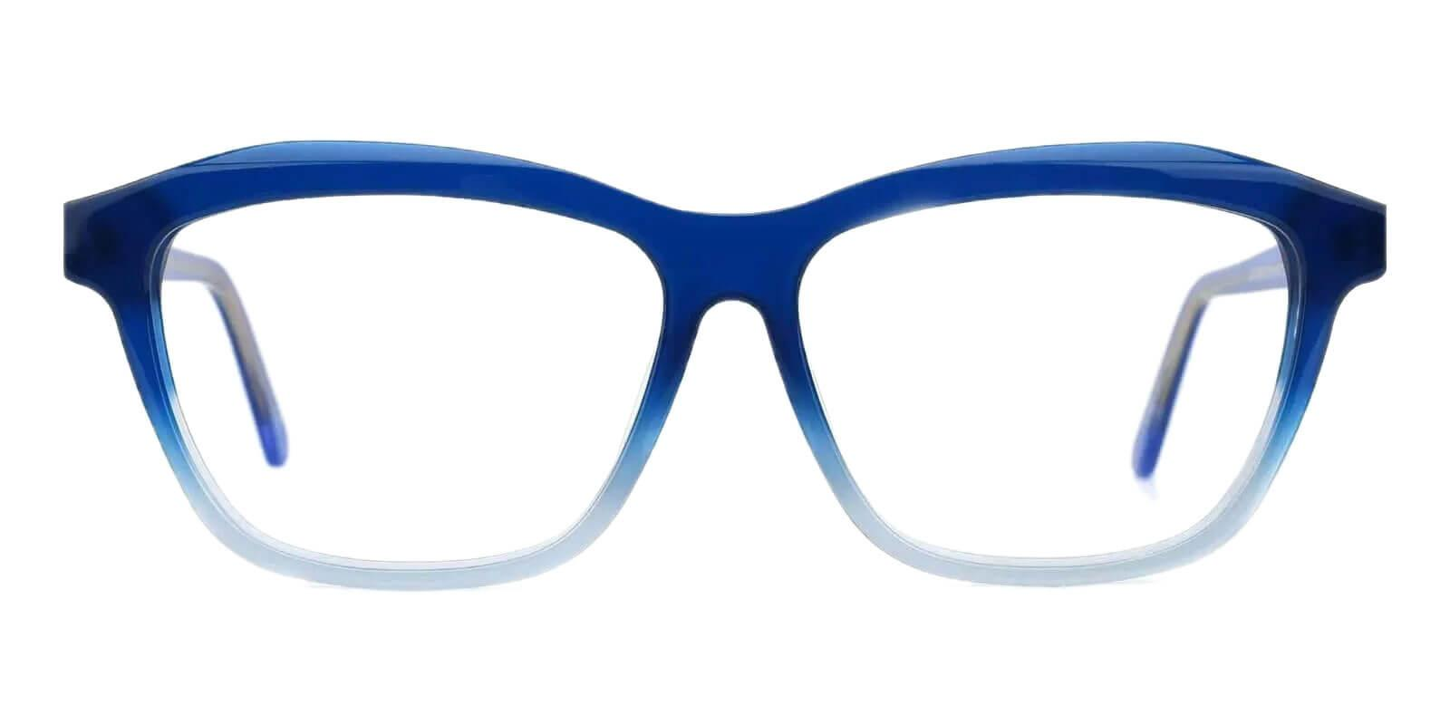 Sonia Blue Acetate Eyeglasses , SpringHinges , UniversalBridgeFit Frames from ABBE Glasses