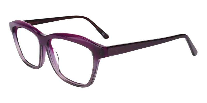 Purple Sonia - Acetate ,Universal Bridge Fit