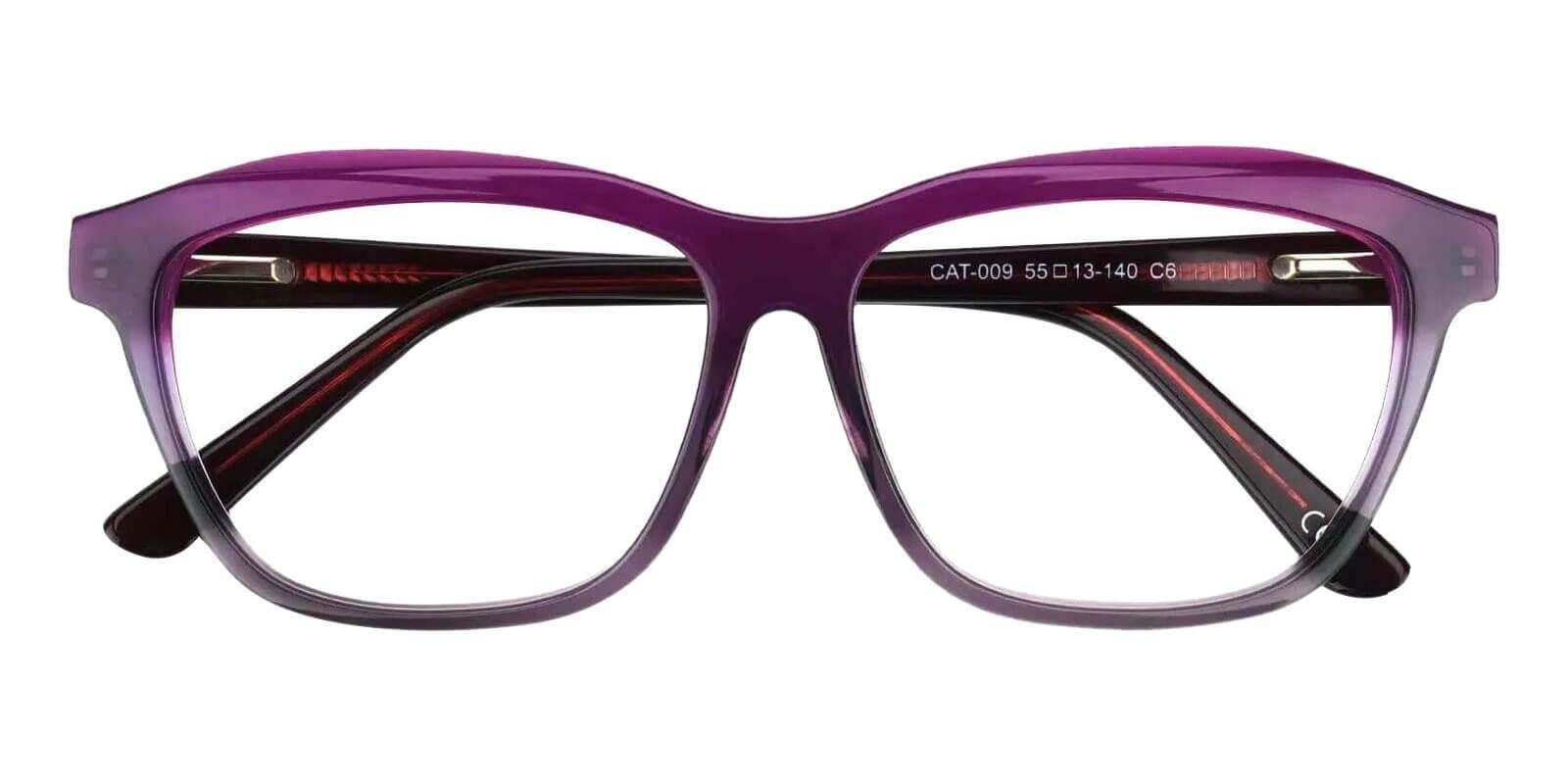 Sonia Purple Acetate Eyeglasses , SpringHinges , UniversalBridgeFit Frames from ABBE Glasses
