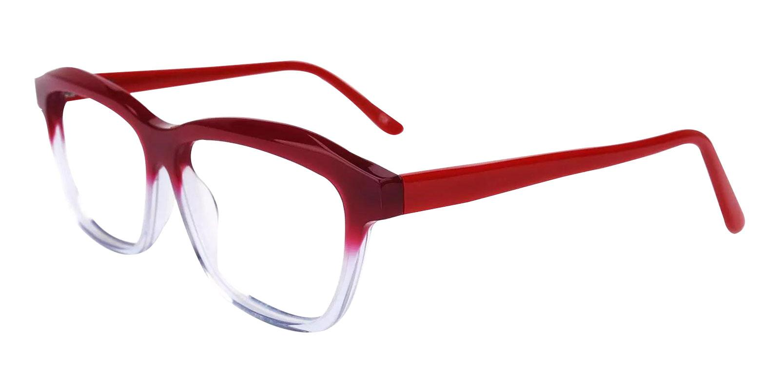 Sonia Red Acetate Eyeglasses , SpringHinges , UniversalBridgeFit Frames from ABBE Glasses