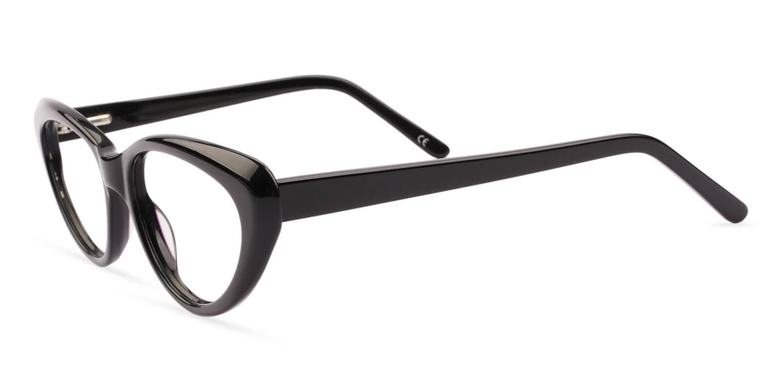 Irene Black Acetate SpringHinges , UniversalBridgeFit , Eyeglasses Frames from ABBE Glasses