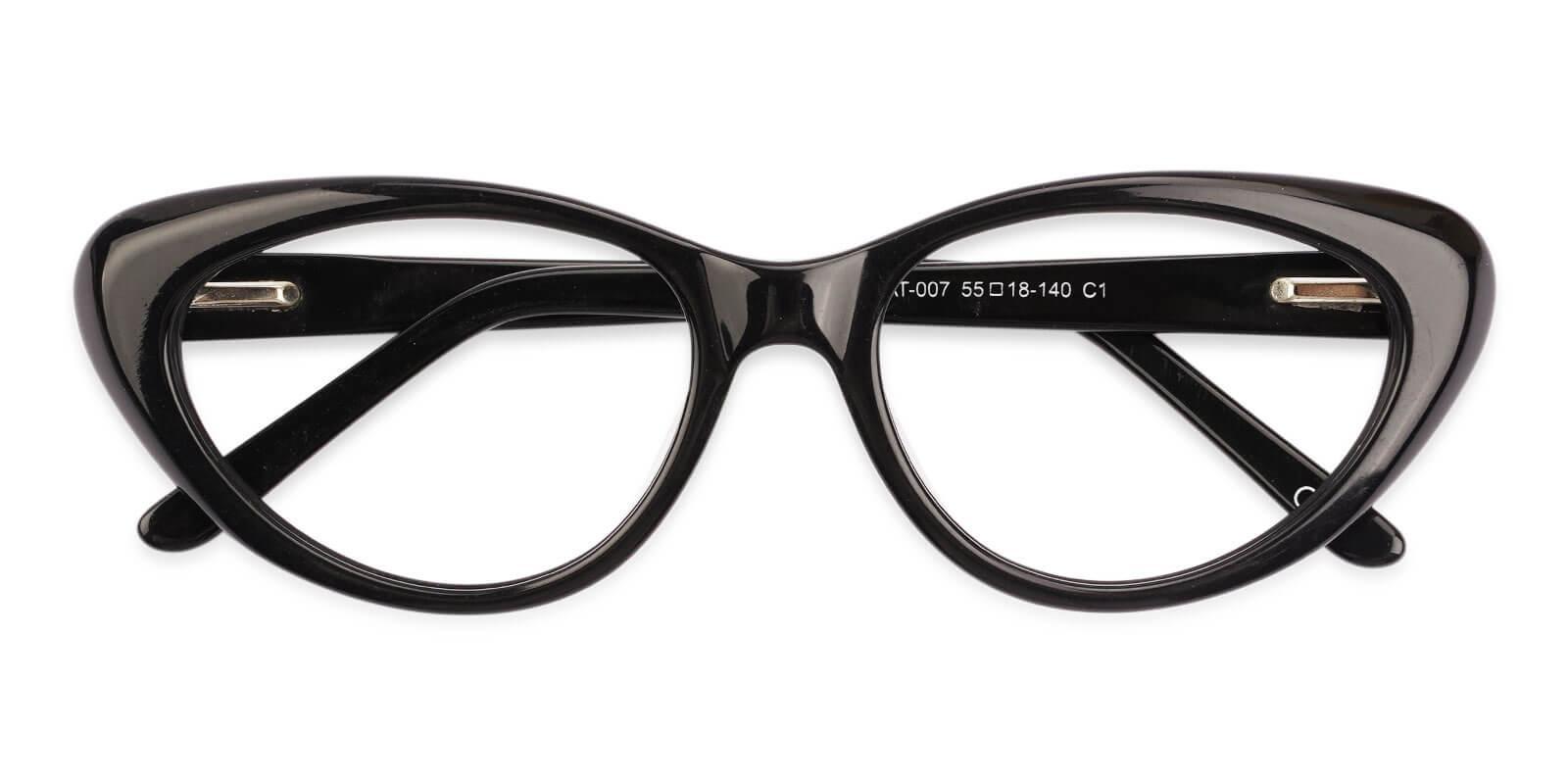 Irene Black Acetate Eyeglasses , SpringHinges , UniversalBridgeFit Frames from ABBE Glasses
