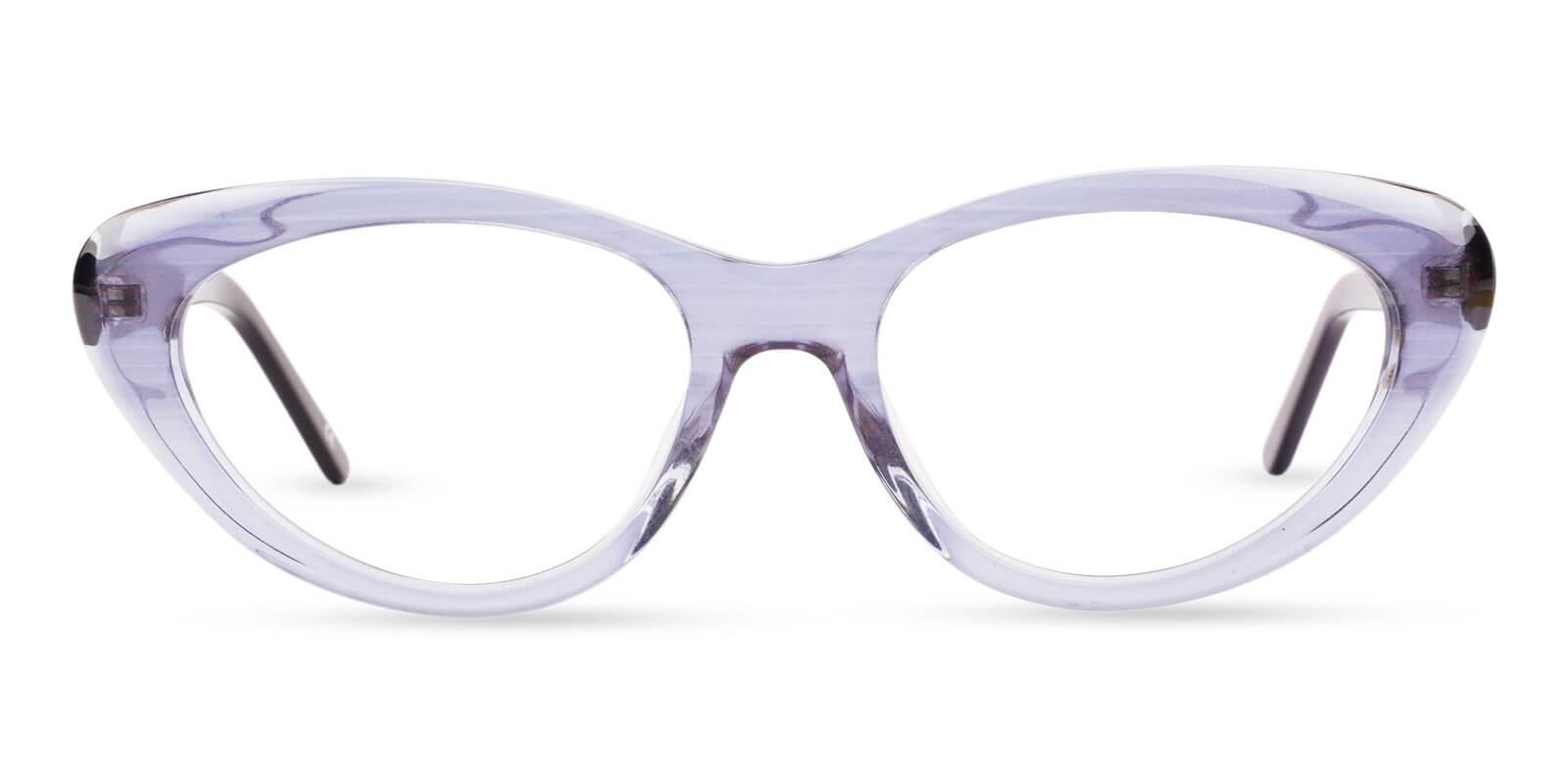 Irene Blue Acetate Eyeglasses , SpringHinges , UniversalBridgeFit Frames from ABBE Glasses