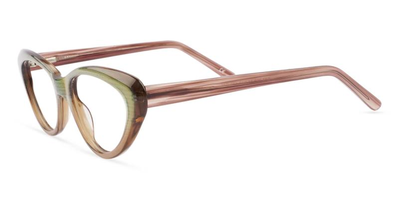 Brown Irene - Acetate ,Universal Bridge Fit
