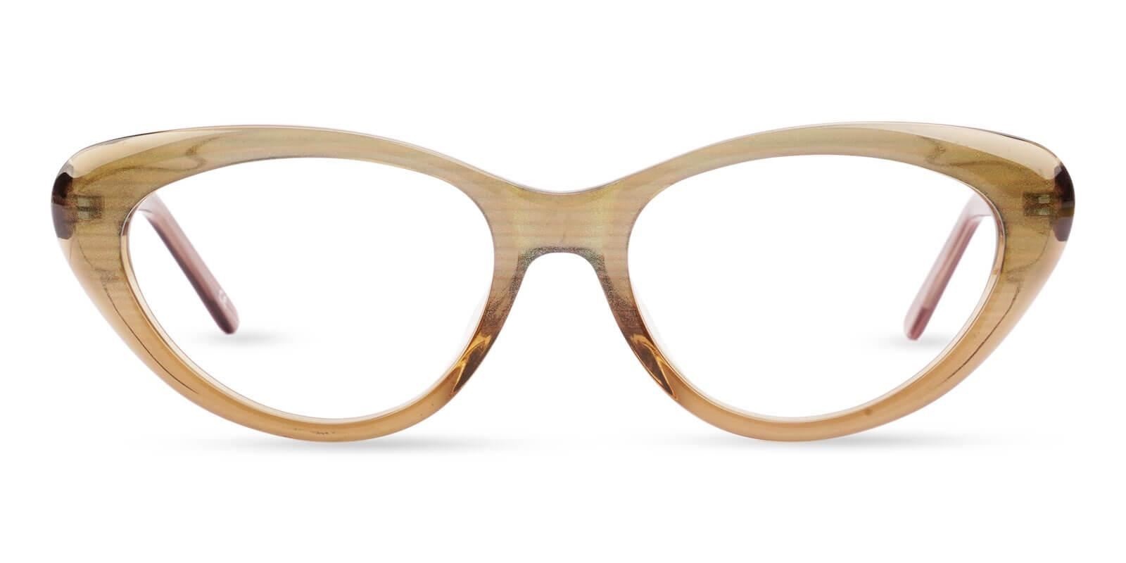 Irene Brown Acetate Eyeglasses , SpringHinges , UniversalBridgeFit Frames from ABBE Glasses