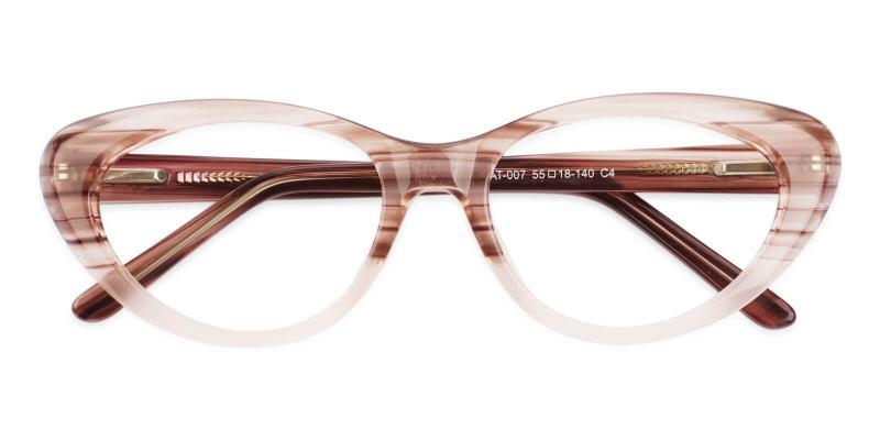 Cream Irene - Acetate Eyeglasses , SpringHinges , UniversalBridgeFit
