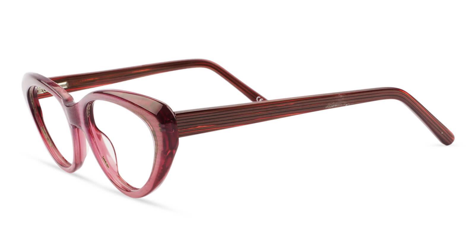 Irene Red Acetate Eyeglasses , SpringHinges , UniversalBridgeFit Frames from ABBE Glasses