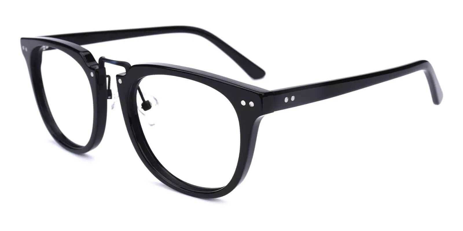 Latrobe Black Acetate Eyeglasses , NosePads Frames from ABBE Glasses