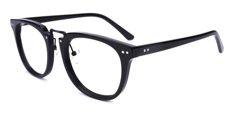 Black Latrobe - Acetate Eyeglasses , NosePads