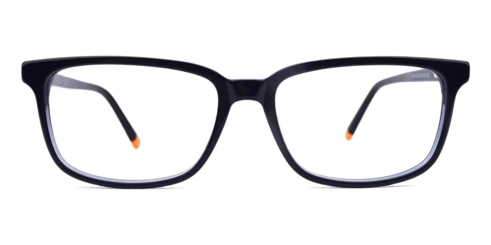 Leupp Corner Blue Acetate Eyeglasses , UniversalBridgeFit , SpringHinges Frames from ABBE Glasses