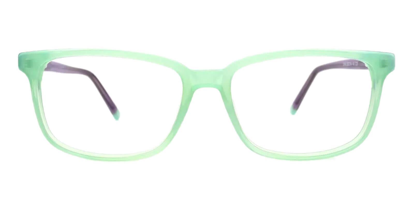 Leupp Corner Green Acetate Eyeglasses , SpringHinges , UniversalBridgeFit Frames from ABBE Glasses