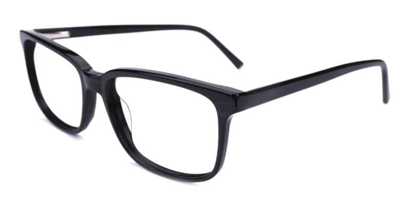 Striped Leupp Corner - Acetate Eyeglasses , SpringHinges , UniversalBridgeFit
