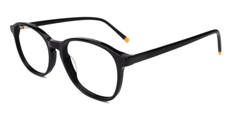 Black Fogelsville - Acetate Eyeglasses , SpringHinges , UniversalBridgeFit