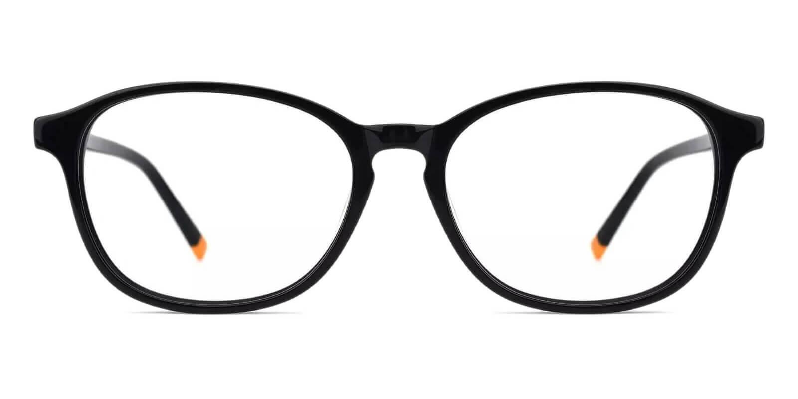 Fogelsville Black Acetate Eyeglasses , SpringHinges , UniversalBridgeFit Frames from ABBE Glasses