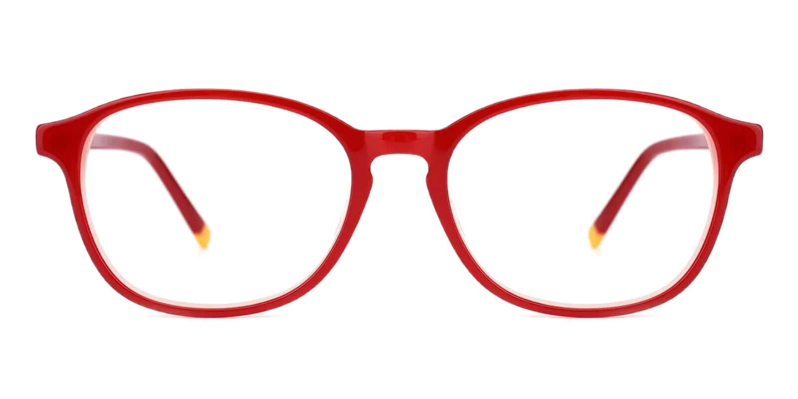 Fogelsville Red Acetate Eyeglasses , SpringHinges , UniversalBridgeFit Frames from ABBE Glasses