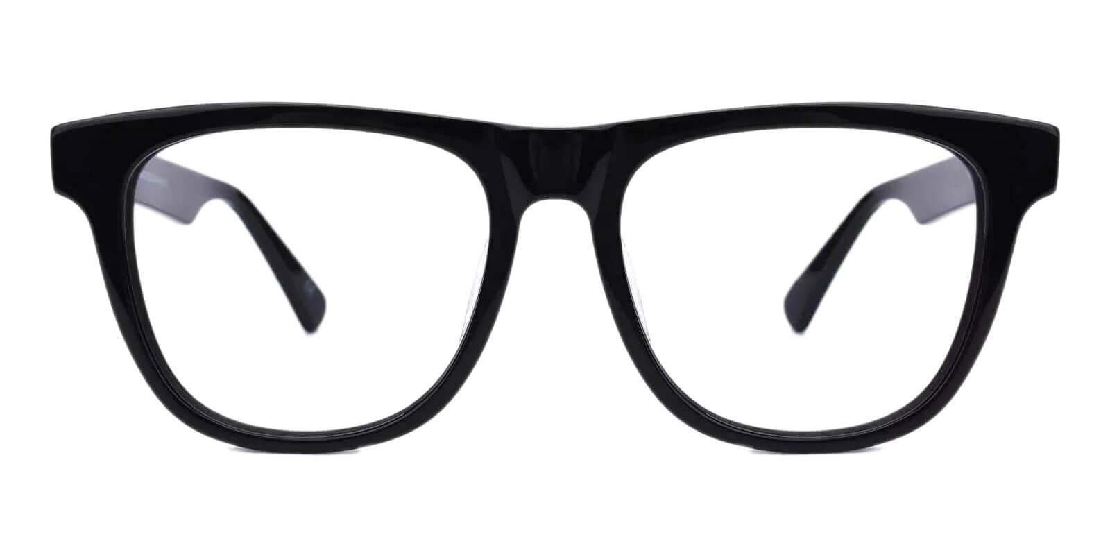 New Florence Black Acetate Eyeglasses , SpringHinges , UniversalBridgeFit Frames from ABBE Glasses
