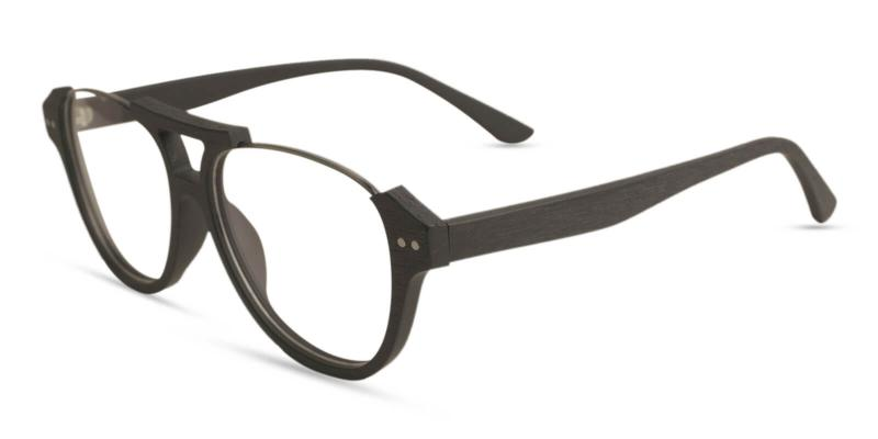 Black Ocean Gate - Combination Eyeglasses , UniversalBridgeFit