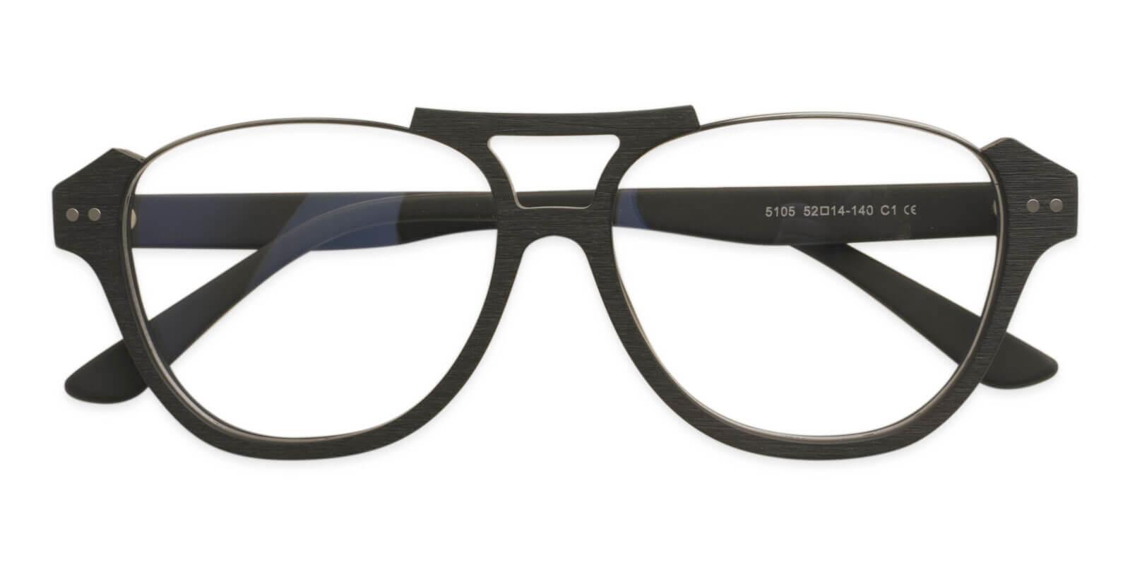 Ocean Gate Black Combination Eyeglasses , UniversalBridgeFit Frames from ABBE Glasses
