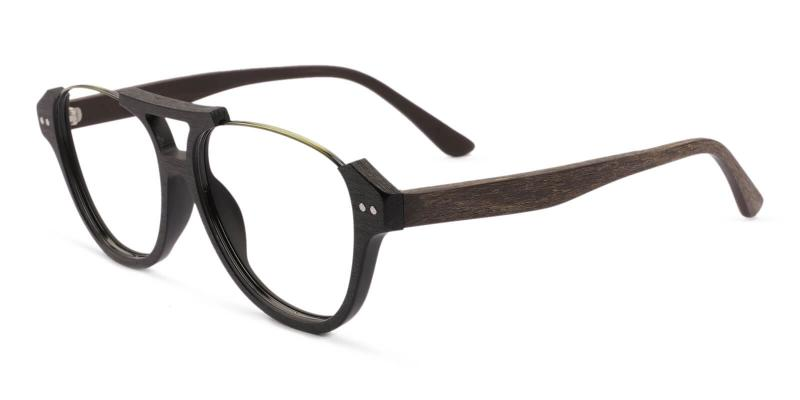 Brown Ocean Gate - Combination Eyeglasses , UniversalBridgeFit