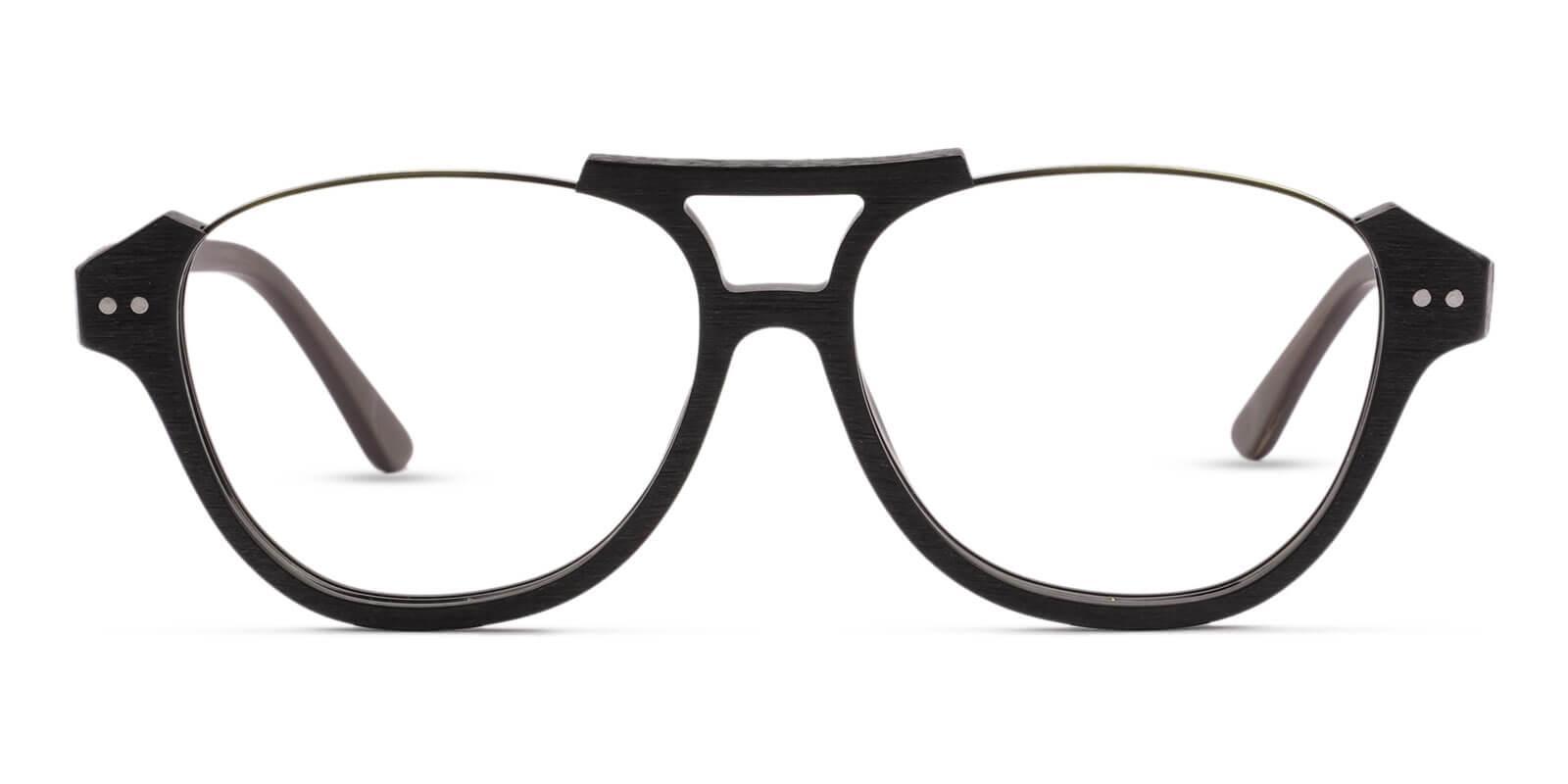Ocean Gate Brown Combination Eyeglasses , UniversalBridgeFit Frames from ABBE Glasses