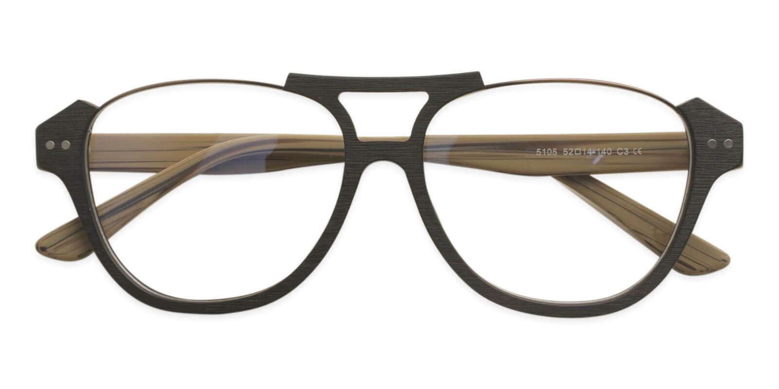 Ocean Gate Cream Combination Eyeglasses , UniversalBridgeFit Frames from ABBE Glasses