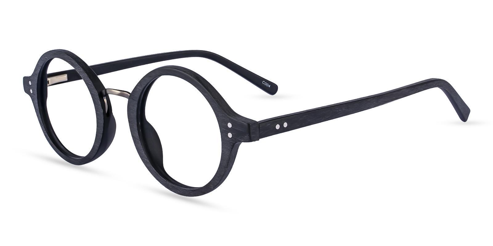 Piggott Black Acetate Eyeglasses , SpringHinges , UniversalBridgeFit Frames from ABBE Glasses