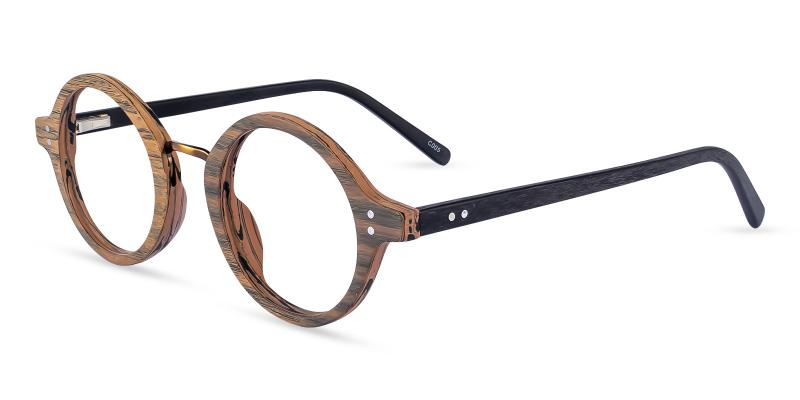 Brown Piggott - Acetate Eyeglasses , SpringHinges , UniversalBridgeFit