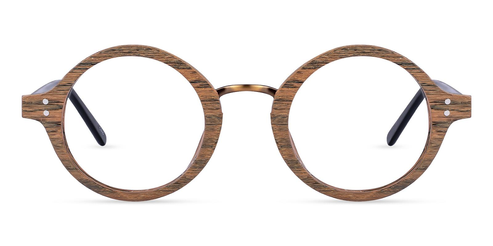 Piggott Brown Acetate Eyeglasses , SpringHinges , UniversalBridgeFit Frames from ABBE Glasses