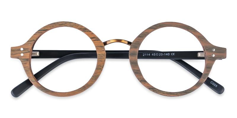 Brown Piggott - Acetate Eyeglasses , SpringHinges , UniversalBridgeFit