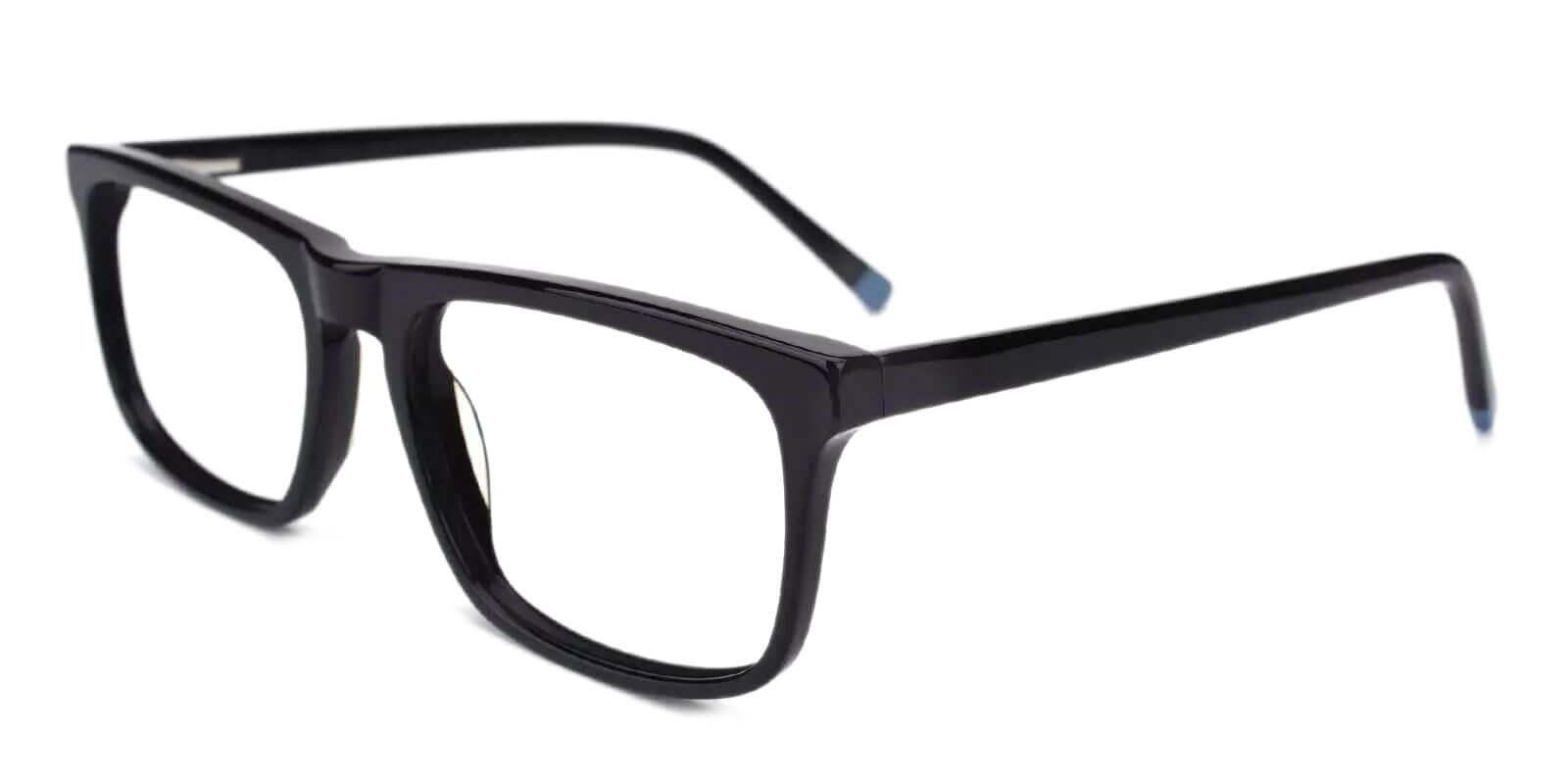 McIntosh Black Acetate Eyeglasses , Lightweight , SpringHinges , UniversalBridgeFit Frames from ABBE Glasses