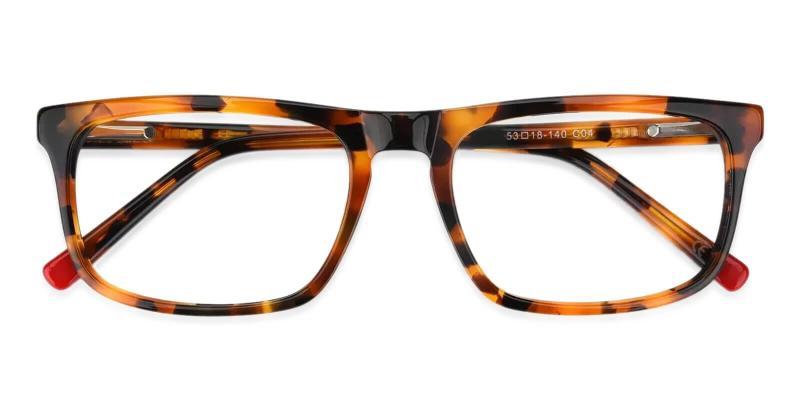 Tortoise McIntosh - Acetate Eyeglasses , Lightweight , SpringHinges , UniversalBridgeFit
