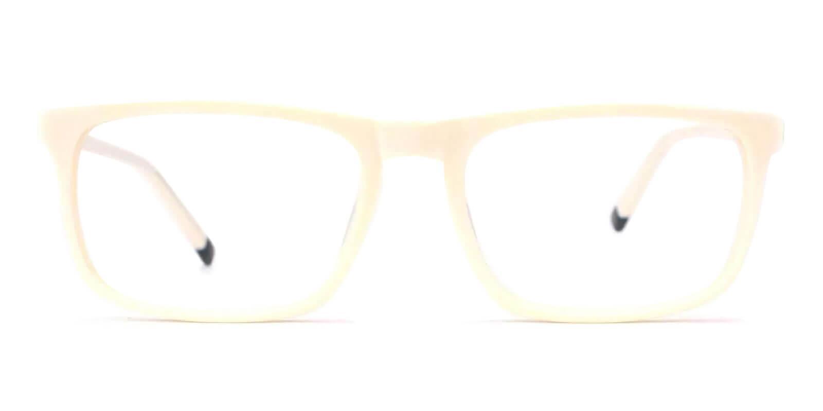 McIntosh White Acetate Eyeglasses , Lightweight , SpringHinges , UniversalBridgeFit Frames from ABBE Glasses